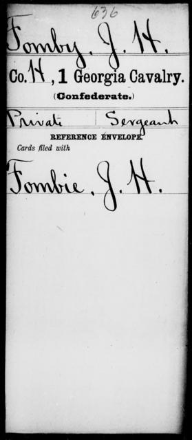 Fomby, J H - 1st Cavalry