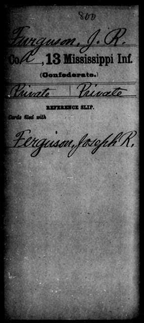 Furguson, J R - Age: [Blank], Year: [BLANK] - Mississippi C, D-F