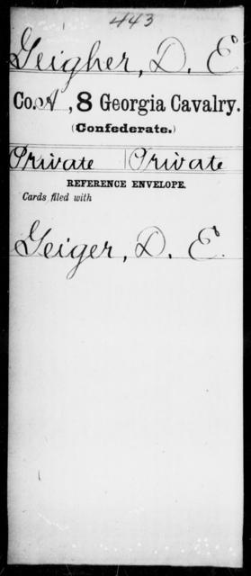 Geigher, D E - 8th Cavalry
