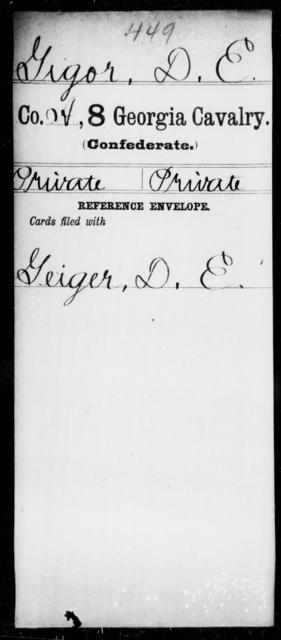Gigor, D E - 8th Cavalry