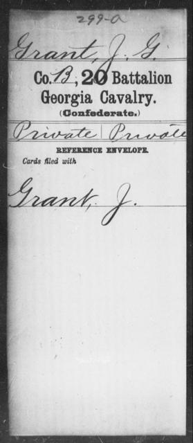 Grant, J G - 20th Battalion, Cavalry