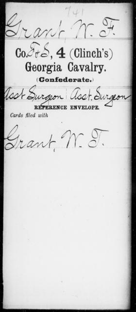 Grant, W F - 4th (Clinch's) Cavalry