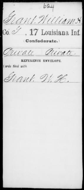 Grant, William H - Age [Blank], Year: [Blank] - Seventeenth Infantry, G - Je - Louisiana