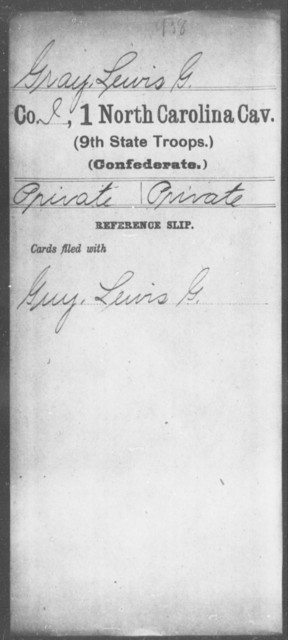Gray, Lewis G - First Cavalry (Ninth State Troops)