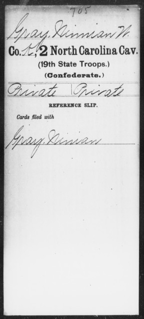 Gray, Ninnian W - Second Cavalry (19th State Troops)
