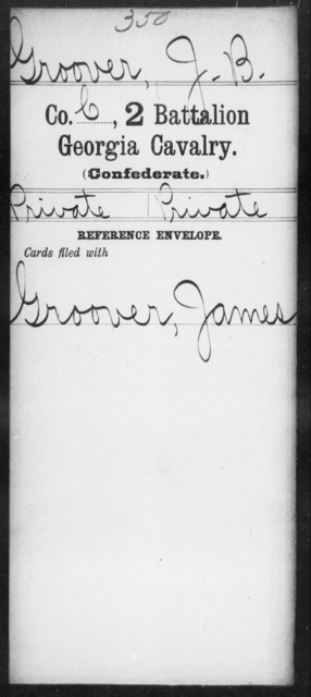 Groover, J B - 2d Battalion, Cavalry