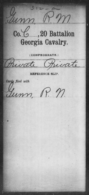 Gunn, R M - 20th Battalion, Cavalry
