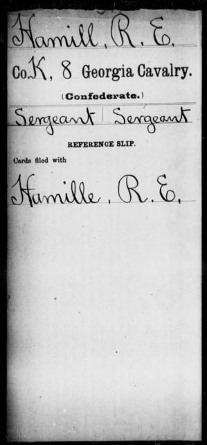 Hamill, R E - 8th Cavalry