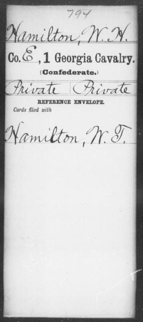 Hamilton, W H - 1st Cavalry