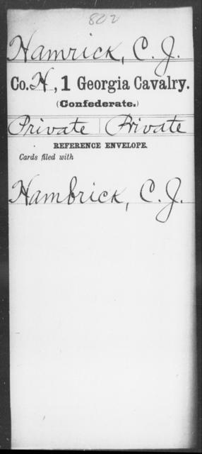 Hamrick, C J - 1st Cavalry