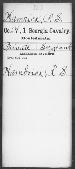 Hamrick, R S - 1st Cavalry