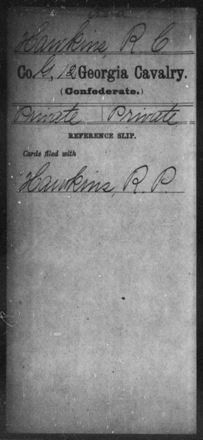 Hawkins, R C - 12th Cavalry
