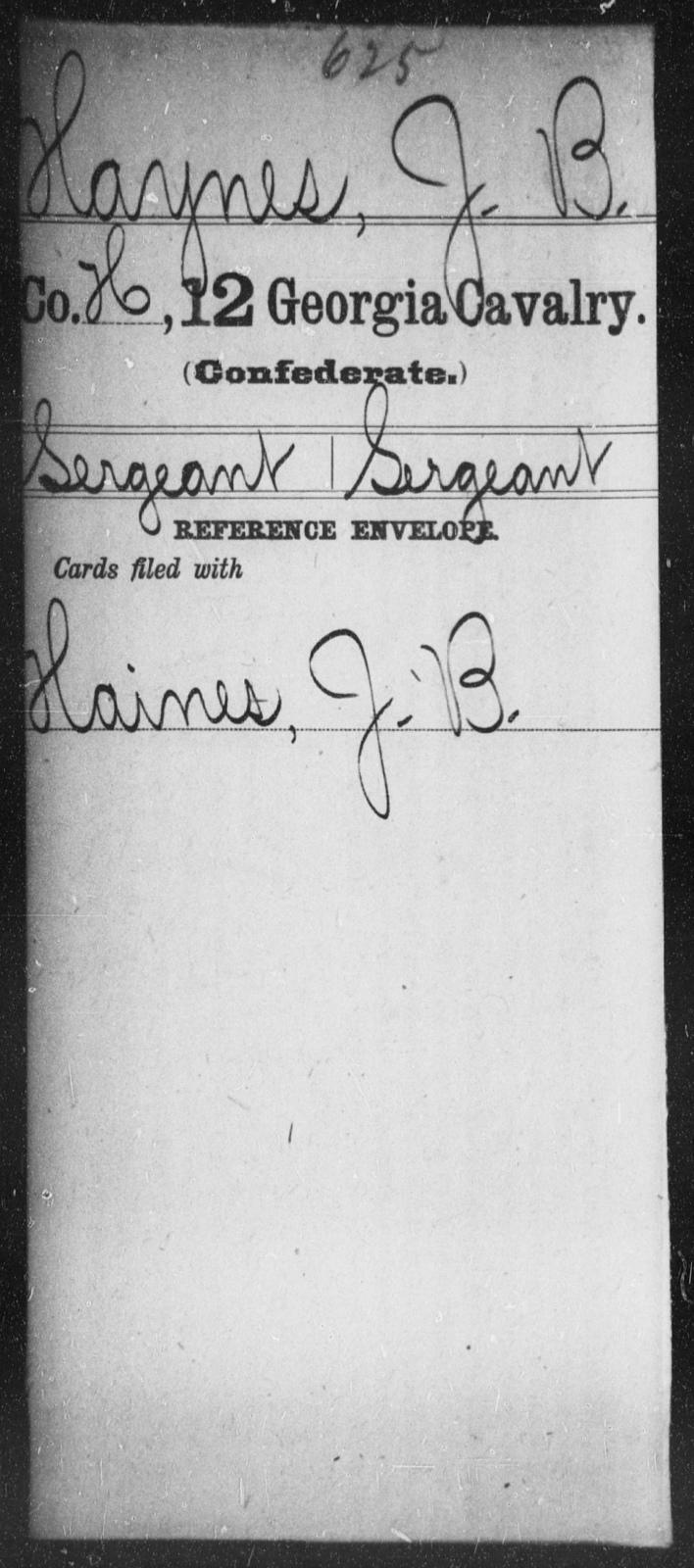 Haynes, J B - 12th Cavalry