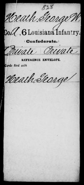Heath, George W - Age [Blank], Year: [Blank] - C, H - Ja - Louisiana