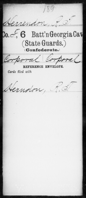Herrendon, R T - 6th Cavalry AND 6th Battalion, Cavalry (State Guards)