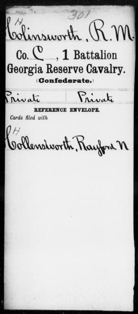 Holinsworth, R M - 1st Battalion, Reserve Cavalry