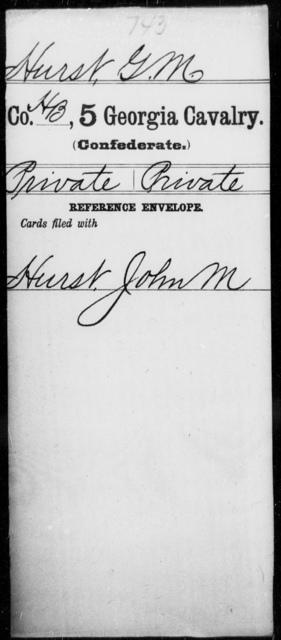 Hurst, G M - 5th Cavalry