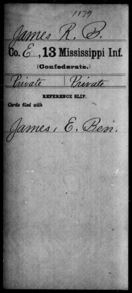 James, R B - Age: [Blank], Year: [BLANK] - Mississippi C, Hi-K