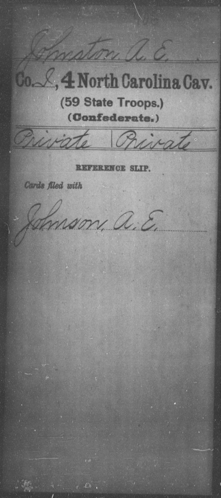 Johnston, A E - Fourth Cavalry (59th State Troops)