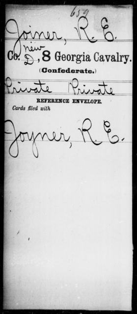 Joiner, R E - 8th Cavalry
