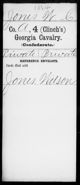 Jones, W C - 4th (Clinch's) Cavalry