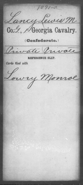 Lancy, Lewis M - 1st Cavalry