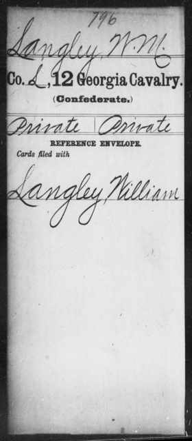 Langley, W M - 12th Cavalry