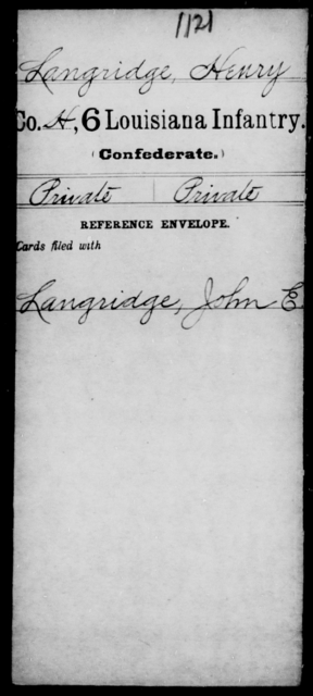 Langridge, Henry - Age [Blank], Year: [Blank] - C, Je - Li - Louisiana