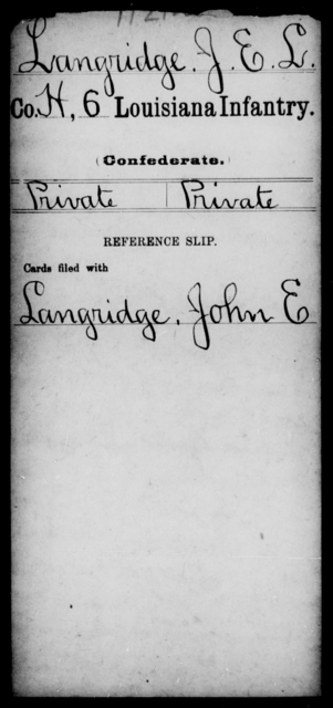 Langridge, J E L - Age [Blank], Year: [Blank] - C, Je - Li - Louisiana
