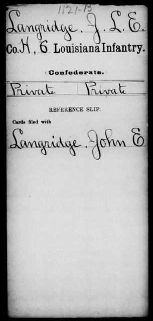 Langridge, J L E - Age [Blank], Year: [Blank] - C, Je - Li - Louisiana