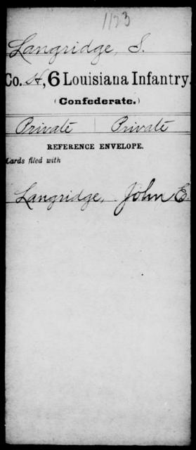 Langridge, S - Age [Blank], Year: [Blank] - C, Je - Li - Louisiana