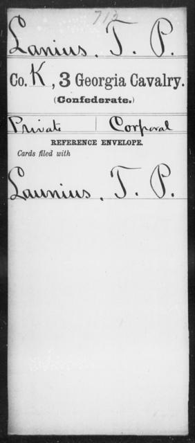 Lanius, T P - 3d Cavalry