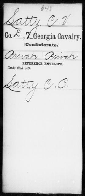 Latty, C V - 7th Cavalry