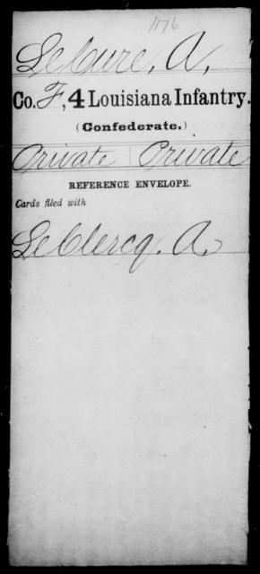 LeCure, A - Age [Blank], Year: [Blank] - Third Regiment, Third Brigade, First Division, Militia - Louisiana