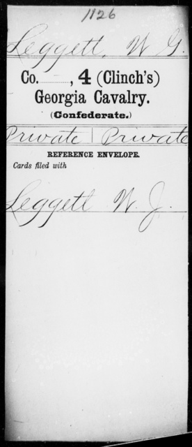 Leggett, W G - 4th (Clinch's) Cavalry
