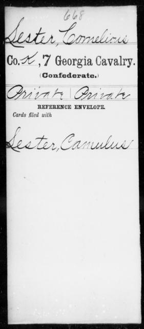 Lester, Cornelious - 7th Cavalry