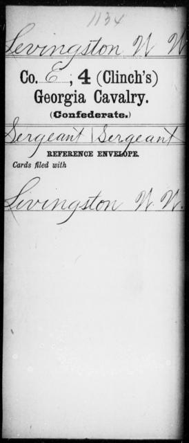 Levingston, W W - 4th (Clinch's) Cavalry