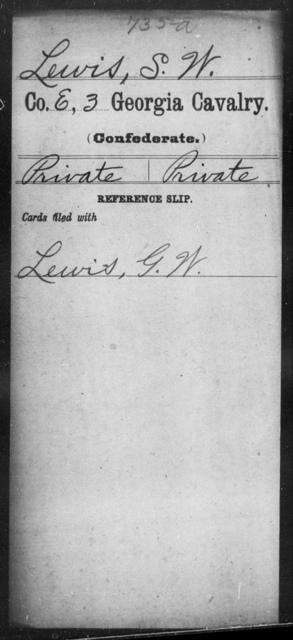 Lewis, S W - 3d Cavalry