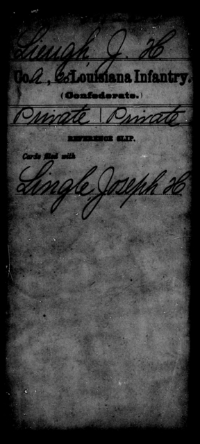 Lieugh, J H - Age [Blank], Year: [Blank] - Twenty-fifth Infantry, He - L - Louisiana