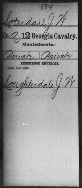 Loterdail, J W - 12th Cavalry