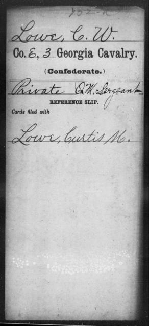 Lowe, C W - 3d Cavalry