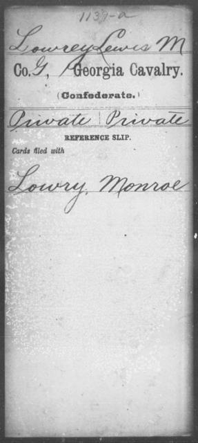 Lowrey, Lewis M - 1st Cavalry