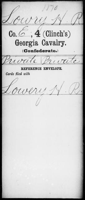 Lowry, H R - 4th (Clinch's) Cavalry