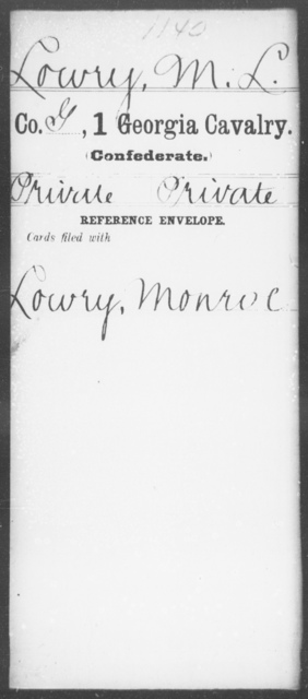 Lowry, M L - 1st Cavalry