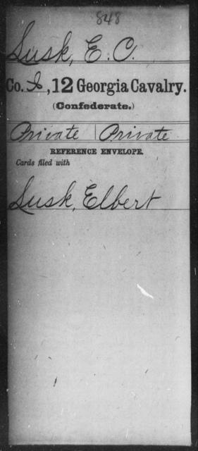 Lusk, E C - 12th Cavalry