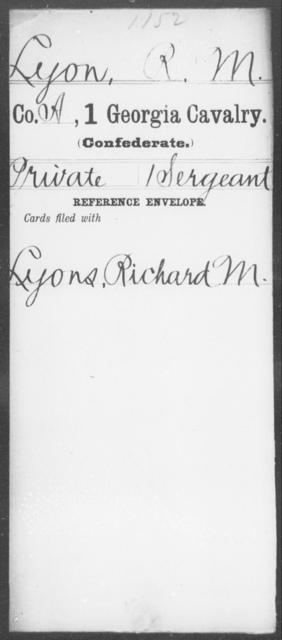 Lyon, R M - 1st Cavalry