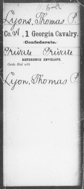 Lyons, Thomas P - 1st Cavalry