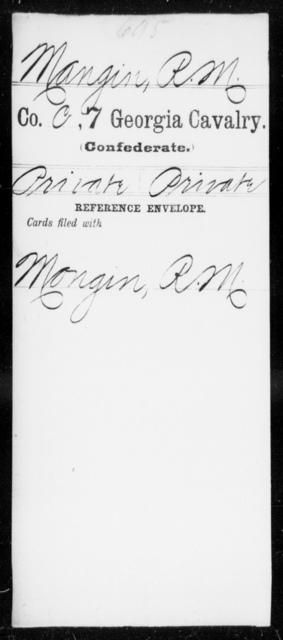 Mangin, R M - 7th Cavalry