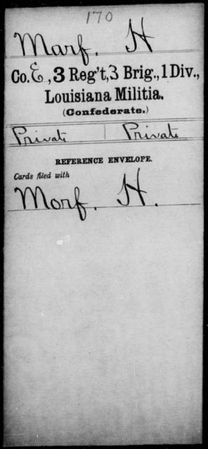 Marf, H - Age [Blank], Year: [Blank] - Third Regiment, French Brigade, P - Z - Louisiana