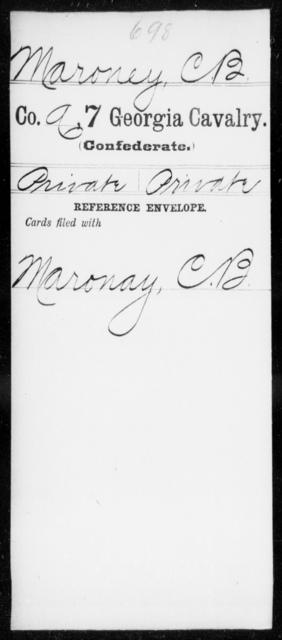 Maroney, C B - 7th Cavalry
